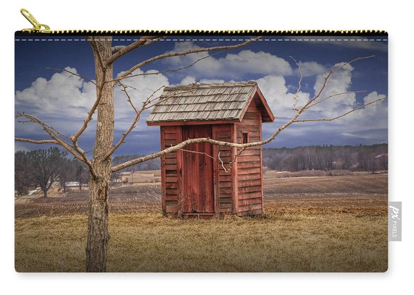 Old Rustic Wooden Outhouse In West Michigan Carry-all Pouch