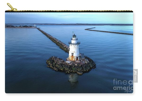 Old Saybrook Outer Lighthouse Carry-all Pouch