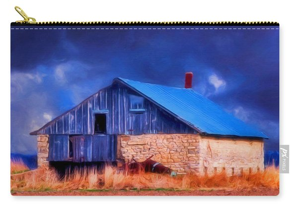 Old Stone Barn Blue Carry-all Pouch