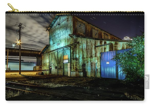 Old Tacoma Industrial Building Light Painted Carry-all Pouch