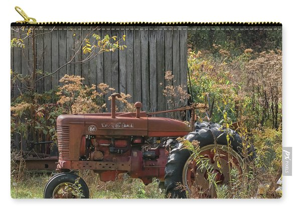 Old Tractor On The Farm. Carry-all Pouch