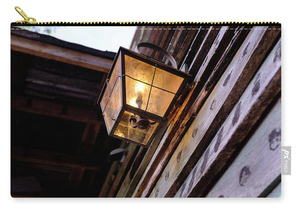 Old Vintage Light On A Wooden Wall In Saint Augustine Florida Carry-all Pouch