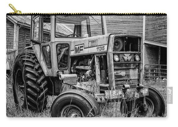 Old Vintage Tractor On A Farm In New Hampshire Square Carry-all Pouch