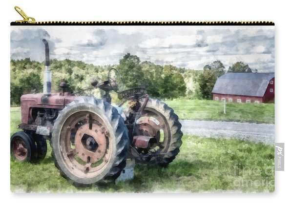 Old Vintage Tractor On The Farm Carry-all Pouch