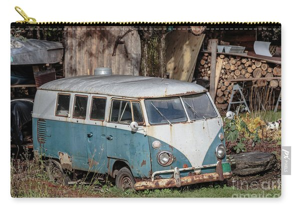 Old Vw Hippy Bus In Vermont Carry-all Pouch