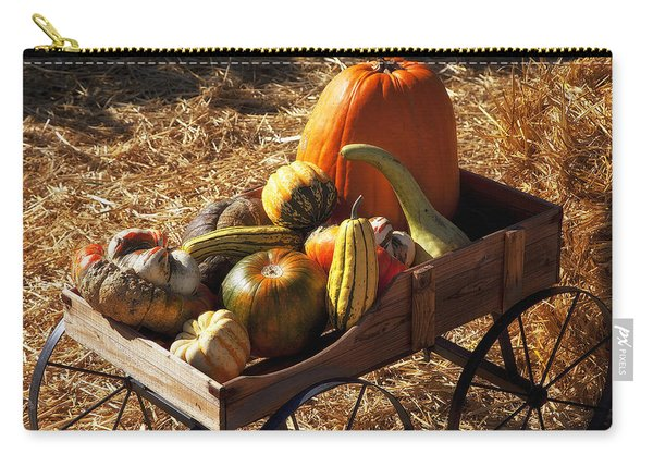Old Wagon Full Of Autumn Fruit Carry-all Pouch