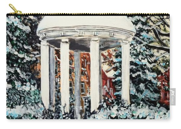 Carry-all Pouch featuring the painting Old Well Winter by Joel Tesch