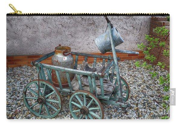 Old Wheelbarrow With Milk Churn Carry-all Pouch