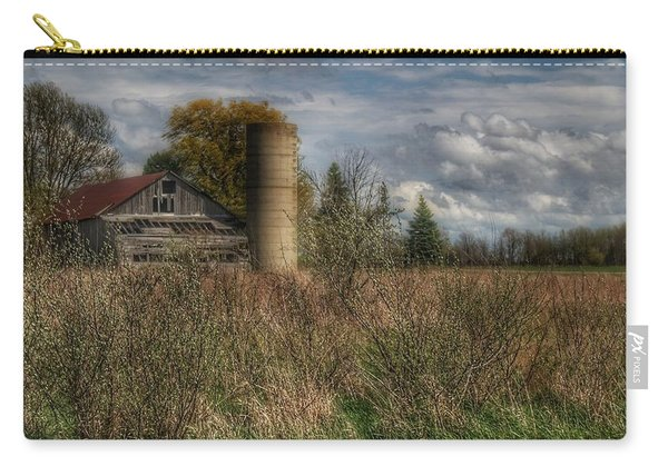 0034 - Old Wooden Barn And Silo Carry-all Pouch