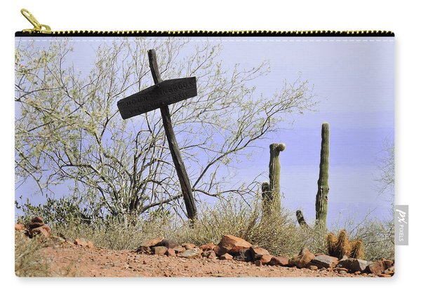 Old Wooden Cross Carry-all Pouch