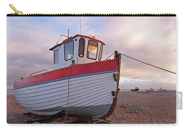 Old Wooden Fishing Boat Home By Sunset Carry-all Pouch