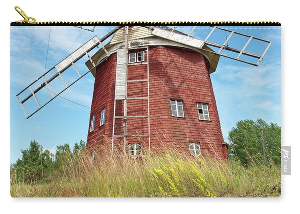 Old Wooden Windmill In Sweden Carry-all Pouch