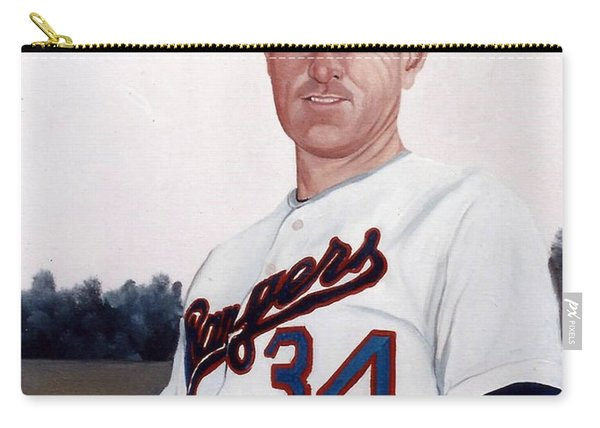 Older Nolan Ryan With The Texas Rangers Carry-all Pouch