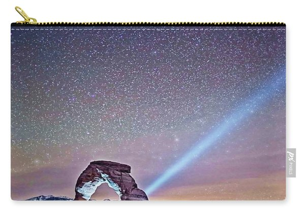 Olena Art Starry Night Pointer At Delicate Arch Moab National Park Carry-all Pouch