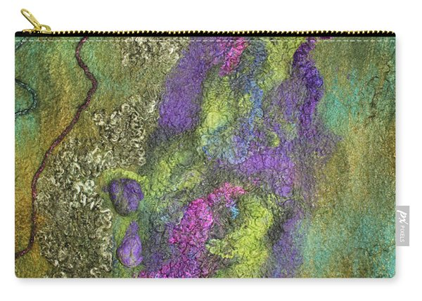 Olive Garden With Lavender Carry-all Pouch