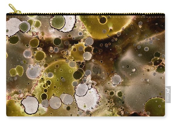 Olive Metal Abstract Carry-all Pouch