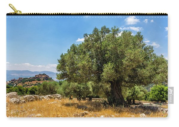 Olive Tree And Nimrod Fortress Carry-all Pouch