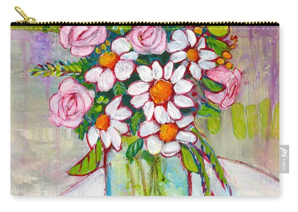 Olivia Daisy Flowers Carry-all Pouch