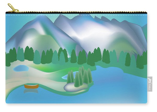 Olympic National Park Vertical Scene Carry-all Pouch