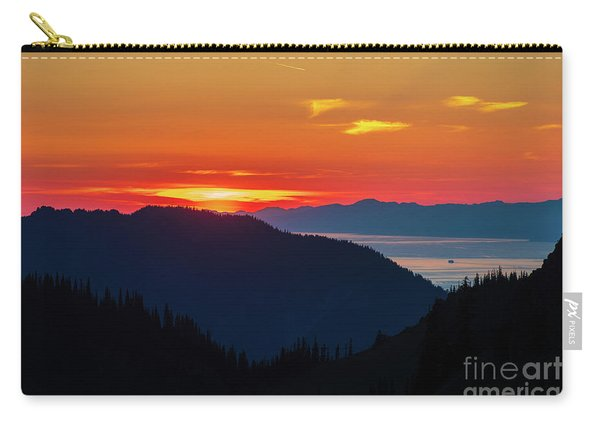 Olympic Peninsula Sunset And The Strait Carry-all Pouch