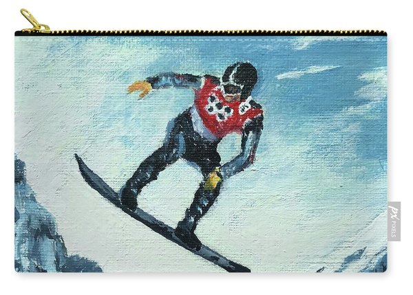Olympic Snowboarder Carry-all Pouch