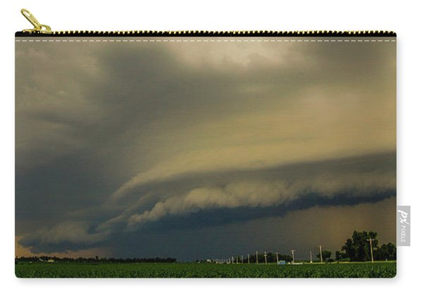 Carry-all Pouch featuring the photograph Ominous Nebraska Outflow 007 by NebraskaSC