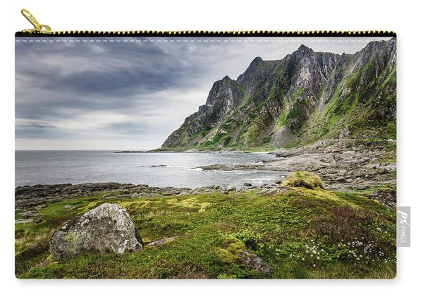 Carry-all Pouch featuring the photograph On A Beach Of Andoya by Dmytro Korol