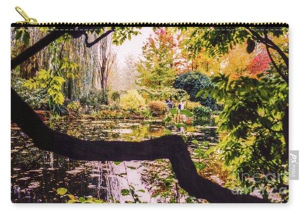 On Oscar - Claude Monet's Garden Pond  Carry-all Pouch