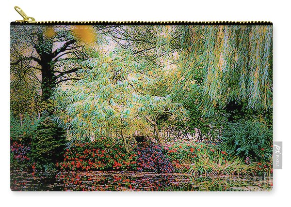 Reflection On, Oscar - Claude Monet's Garden Pond Carry-all Pouch