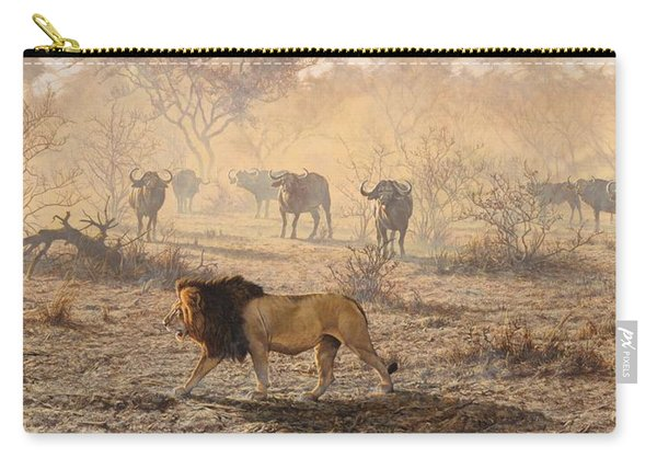 Carry-all Pouch featuring the painting On Patrol by Alan M Hunt