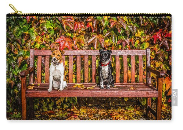Carry-all Pouch featuring the photograph On The Bench by Nick Bywater