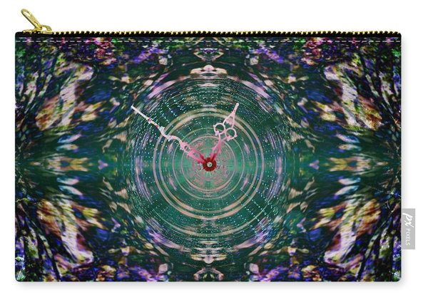 On The Clock Of Rose Garden Carry-all Pouch