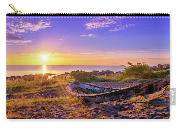 Carry-all Pouch featuring the photograph On The Last Shore by Dmytro Korol