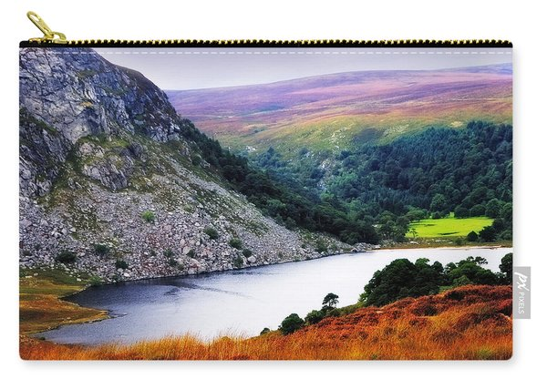 On The Shore Of Lough Tay. Wicklow. Ireland Carry-all Pouch