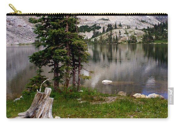 On The Snowy Mountain Loop Carry-all Pouch