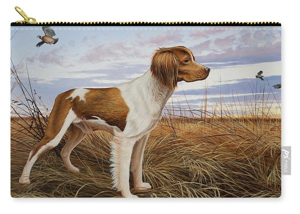 On Watch - Brittany Spaniel Carry-all Pouch