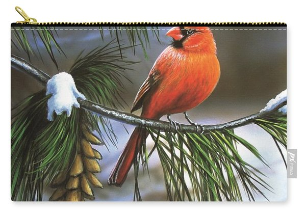 On Watch - Cardinal Carry-all Pouch