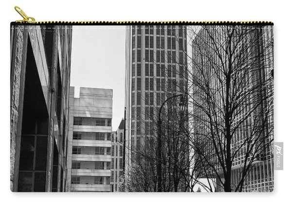 One Atlantic Center In Black And White Carry-all Pouch
