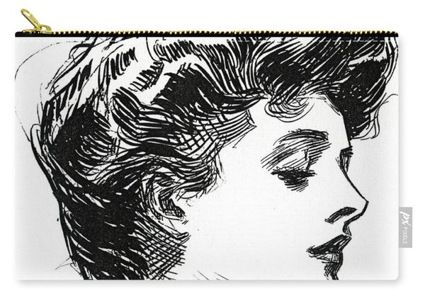 One Of Charles Dana Gibson's Gibson Girls Carry-all Pouch