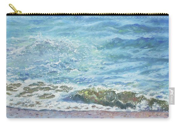 Carry-all Pouch featuring the painting One Wave by Martin Davey