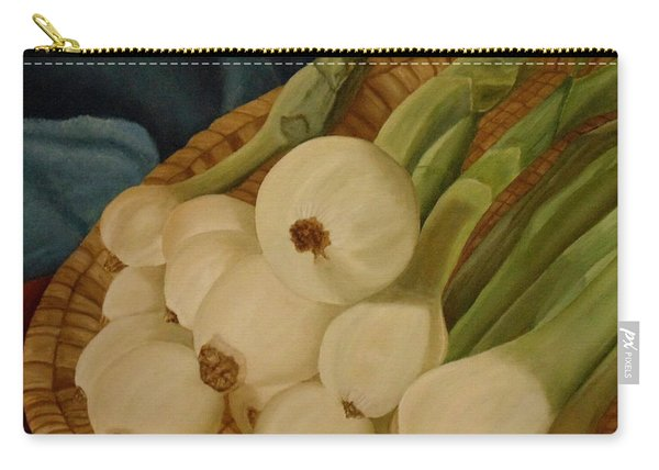 Carry-all Pouch featuring the painting Onions by Angeles M Pomata