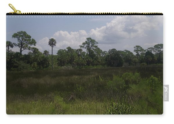 Open Meadow Of Trees Carry-all Pouch