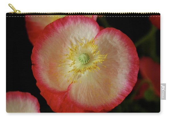 Open Poppy Carry-all Pouch