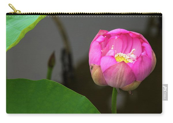 Opening Lotus Lily Carry-all Pouch