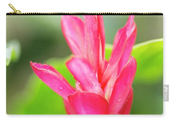 Opening Red Ginger Flower Bud Carry-all Pouch
