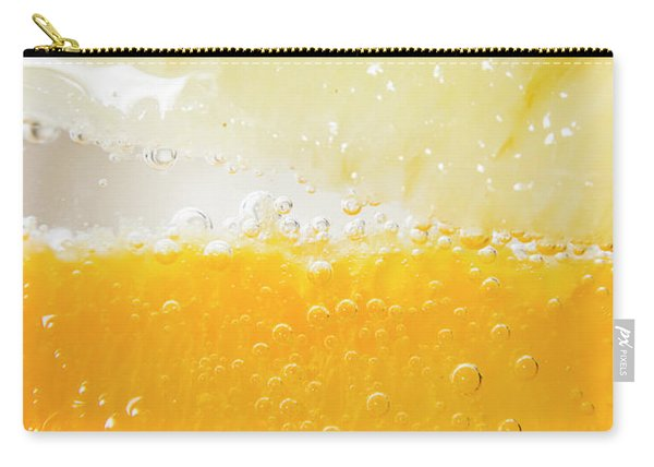 Orange And Lemon In Cocktail Glass Carry-all Pouch