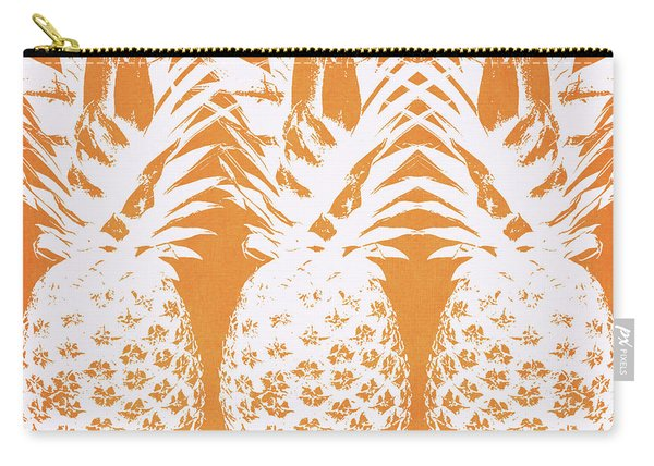 Orange And White Pineapples- Art By Linda Woods Carry-all Pouch