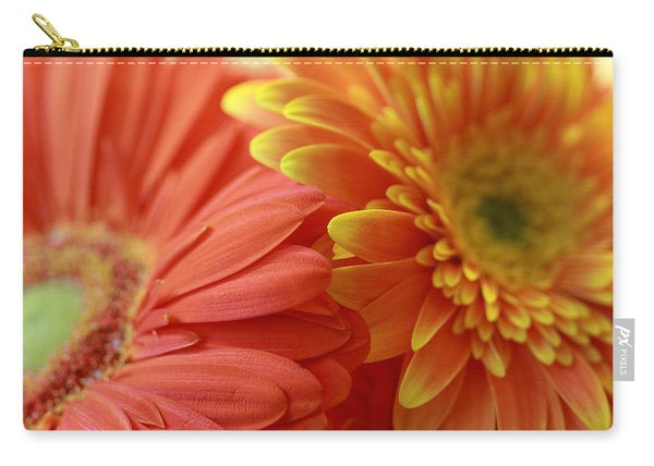 Orange And Yellow Daisies Carry-all Pouch