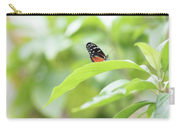 Carry-all Pouch featuring the photograph Orange Black Butterfly by Raphael Lopez