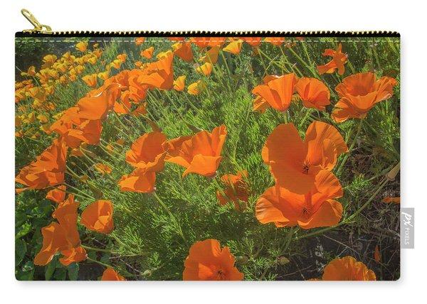 Orange Burst Carry-all Pouch